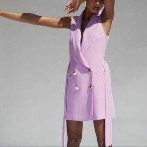 ZARA Lilac Long Vest- Sz: Medium